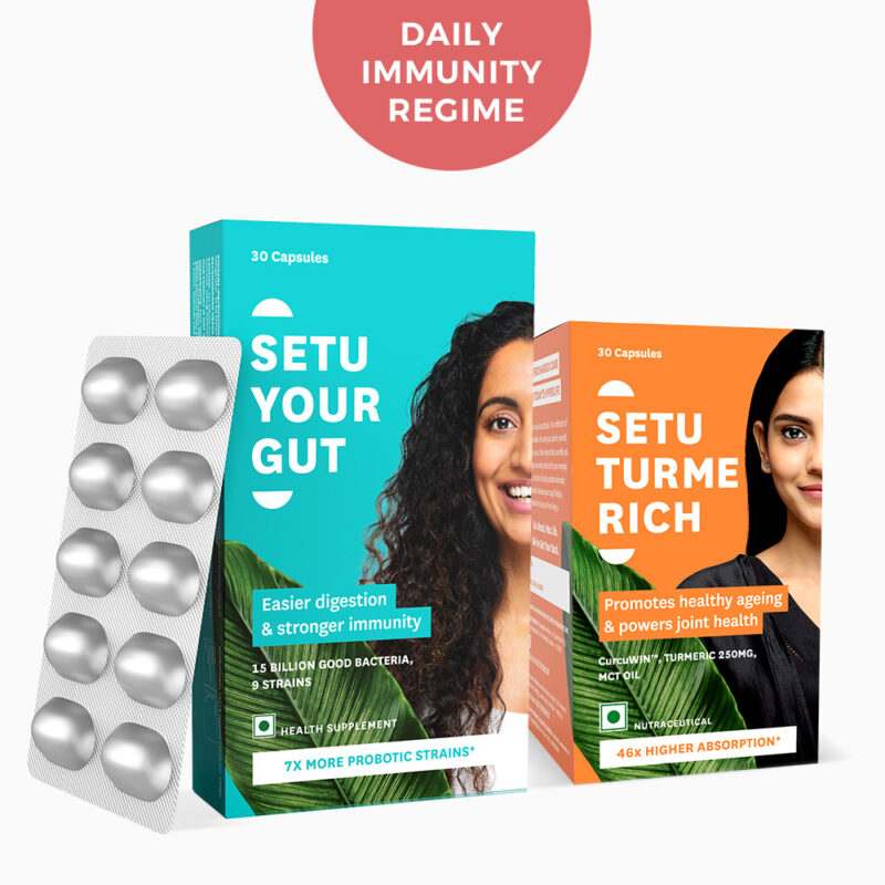 Daily Immunity Regime - Your Gut & Turme Rich