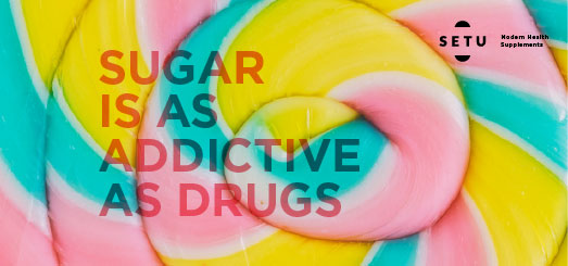 Did you know?? Sugar is as addictive as Drugs!!
